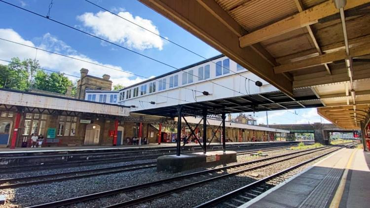 Lancaster station footbridge after refurbishment