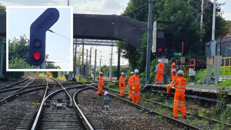 New signals being installed as part of Trafford Park upgrade composite (1)