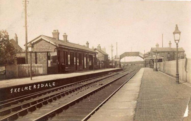 Skelmersdale railway station in 1914