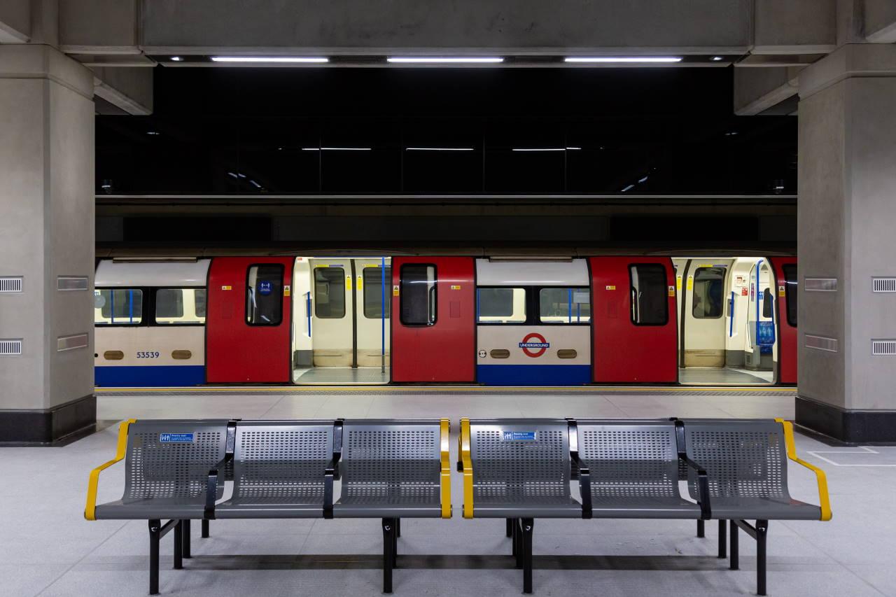 Nine Elms Underground Station on the Northern Line Extension