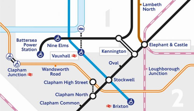 TfL Image - NLE new stations on Tube map