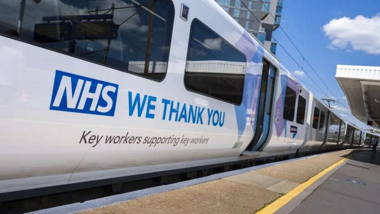 Timetables were created to meet the needs of key workers during the pandemic and this train was repainted as a tribute
