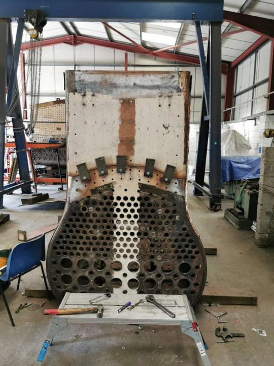 Trial Fit of New Tubeplate Sections for 928 Stowe // Credit HBSS