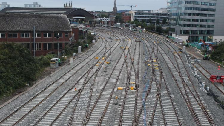 View of upgraded track at Bristol East Junction