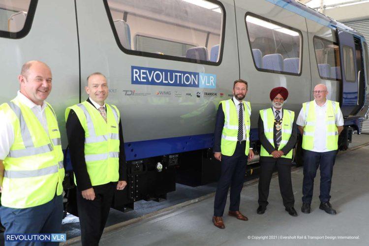 New Revolution Very Light Rail train