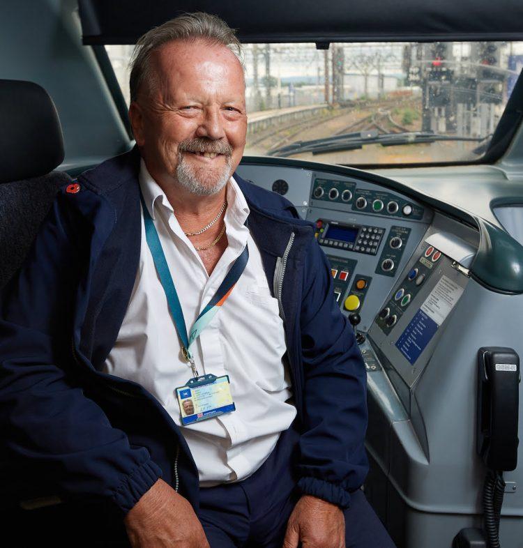 Steve in the cab of Pendolino 390157