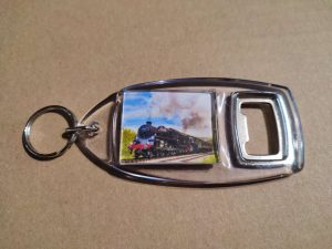 Bottle opener with 75078 on the Keighley and Worth Valley Railway