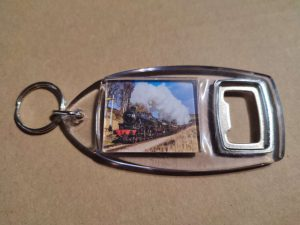 Bottle opener with Black 5 steam locomotive 45212 and 45596 Bahamas