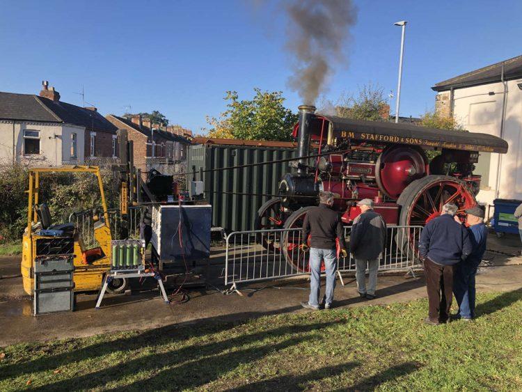test at Darlington Locomotive Works of The A1 Steam Locomotive Trust's