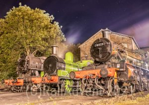 5820, 957 and 78022 at Haworth MPD, Keighley and Worth Valley Railway