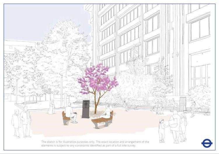 TfL Image - TfL memorial - Artist sketch