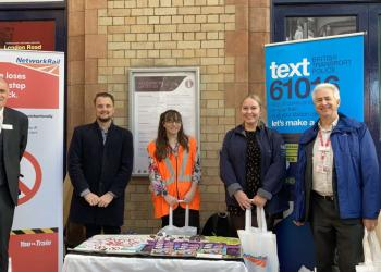 Trespass and Vandalism community event, Leicester station