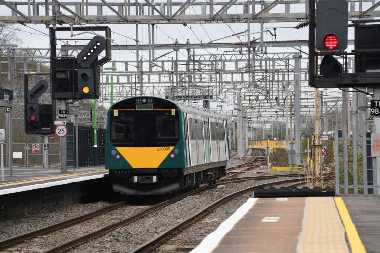 Vivarail 230003 in operation- Bedford to Bletchley