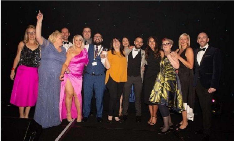 the team at scot rail RBS Proud Scotland Awards 2021.